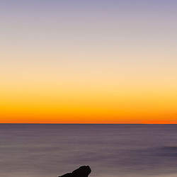 Rock at dawn. Atlantic Ocean, Rye, New Hampshire.