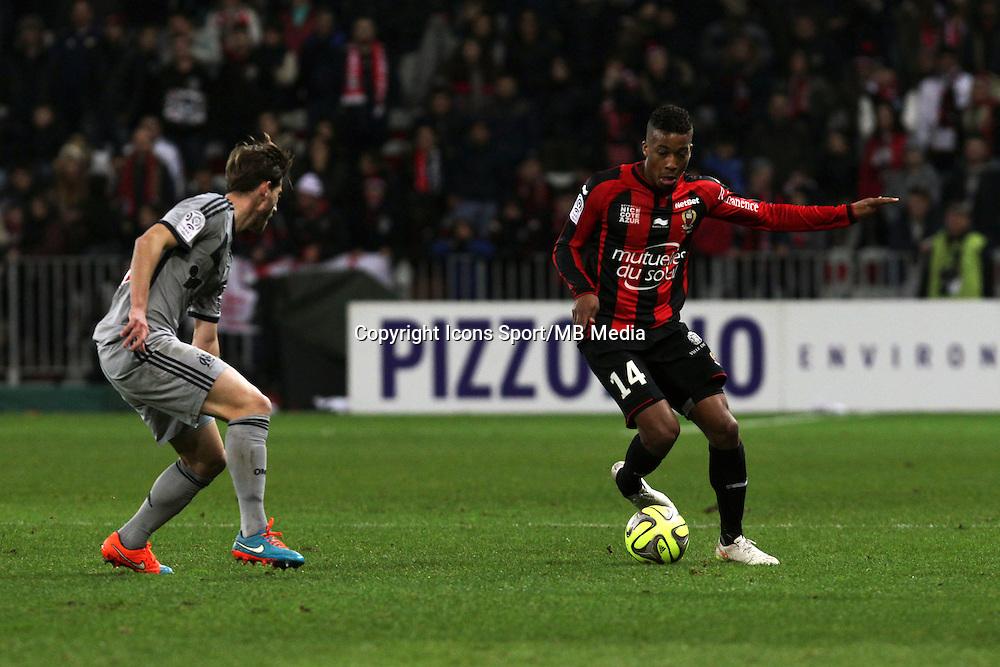 Alassane PLEA  - 23.01.2015 - Nice / Marseille - 22eme journee de Ligue 1<br />Photo : Jean Christophe Magnenet / Icon Sport