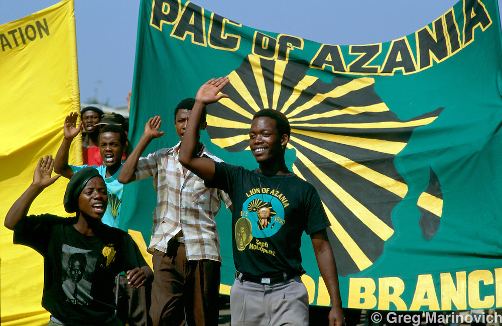Pan African Congress supporters, Vaal Triangle, South Africa.