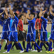 El Salvador players salute the fans after the El Salvador Vs Trinidad and Tobago CONCACAF Gold Cup group B football match at Red Bull Arena, Harrison, New Jersey. USA. 8th July 2013. Photo Tim Clayton