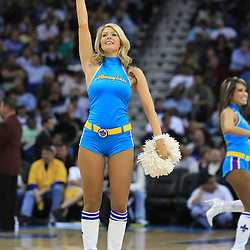 02 February 2009: New Orleans Hornets Honeybees cheerleaders perform during a 97-89 loss by the New Orleans Hornets to the Portland Trail Blazers at the New Orleans Arena in New Orleans, LA.