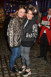 Left to right, sisters LOIS WINSTONE and JAIME WINSTONE at Skate at Somerset House in association with Fortnum & Mason held on 10th November 2014.