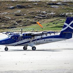 Barra airport, Island of Barra, Outer Hebrides, Scotland