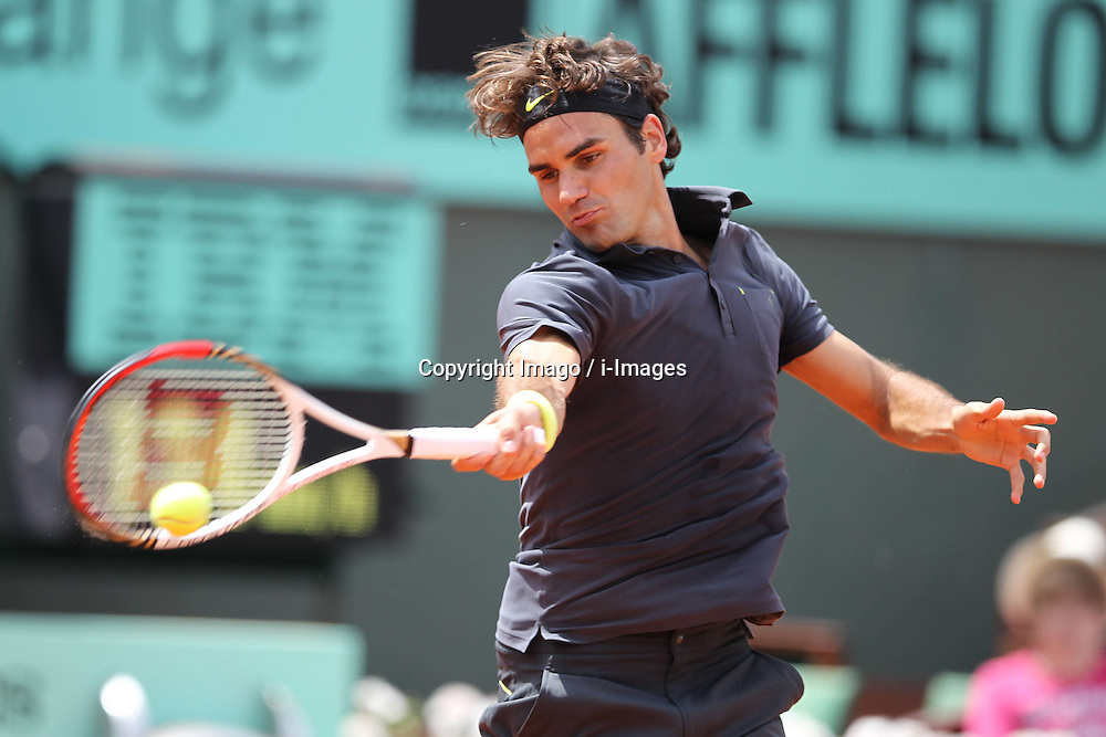Roger Federer competing in the French Open, at Roland Garros, Paris , May, 2012 , Photo by: Imago / i-Images