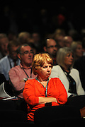 Labour Party Annual Conference<br /> Brighton<br /> 27-30 September<br /> Labour party delegate listens to the conference opening speeches.