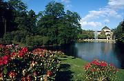 Deutschland Germany Hessen.Hessen, Wiesbaden.Kurhaus, Kurpark., Park with spa house...