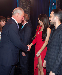 Embargoed to 0001 Tuesday November 13 The Prince of Wales meeting Cheryl after the We Are Most Amused and Amazed performance at the London Palladium.