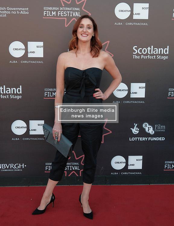 Edinburgh International Film Festival, Saturday, 24 June 2018<br /> <br /> STEEL COUNTRY (WORLD PREMIERE)<br /> <br /> Pictured:  Bronagh Waugh<br /> <br /> <br /> (c) Alex Todd | Edinburgh Elite media