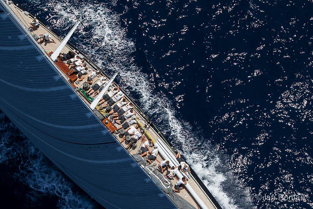 SPAIN, Palma. 21st June 2013. Superyacht Cup. J Class. Race three, coastal race.