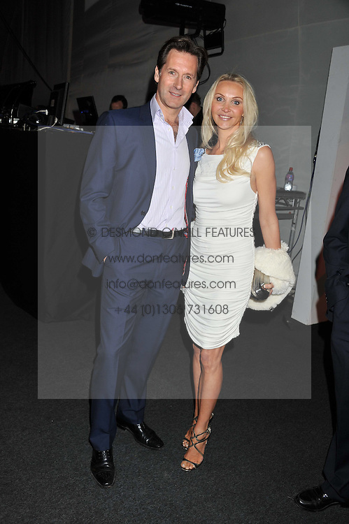 HEATHER BIRD-TCHENGUIZ and HAMISH SCOTT at the inaugural Gabrielle's Gala in London in aid of Gabrielle's Angel Foundation for Cancer Research held at Battersea Power Station, London on 7th June 2012.