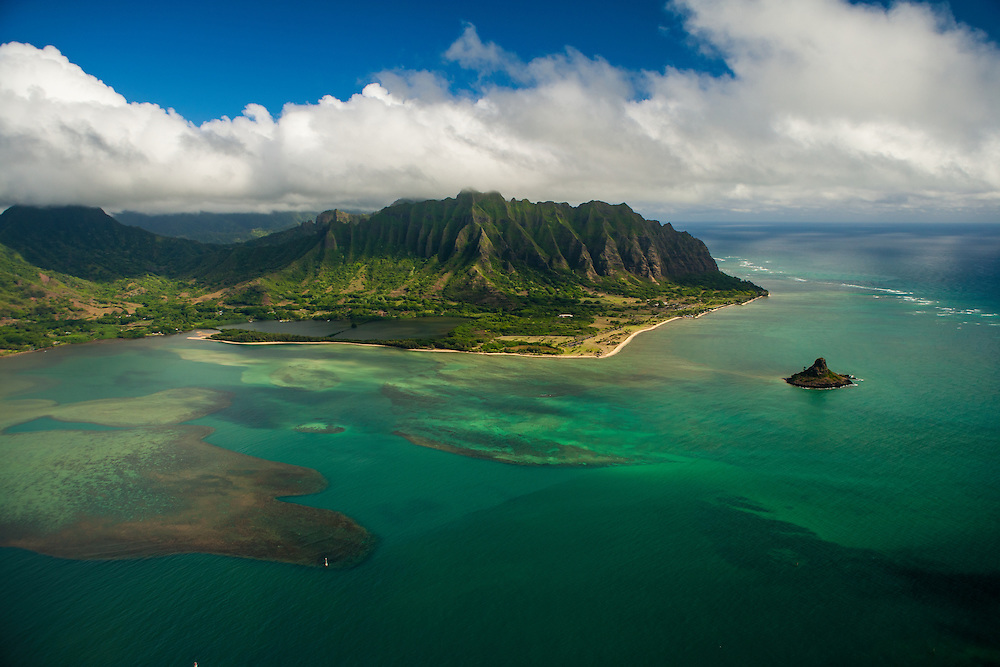 Kualoa Aerial, Kaneohe Bay, Oahu, Hawaii