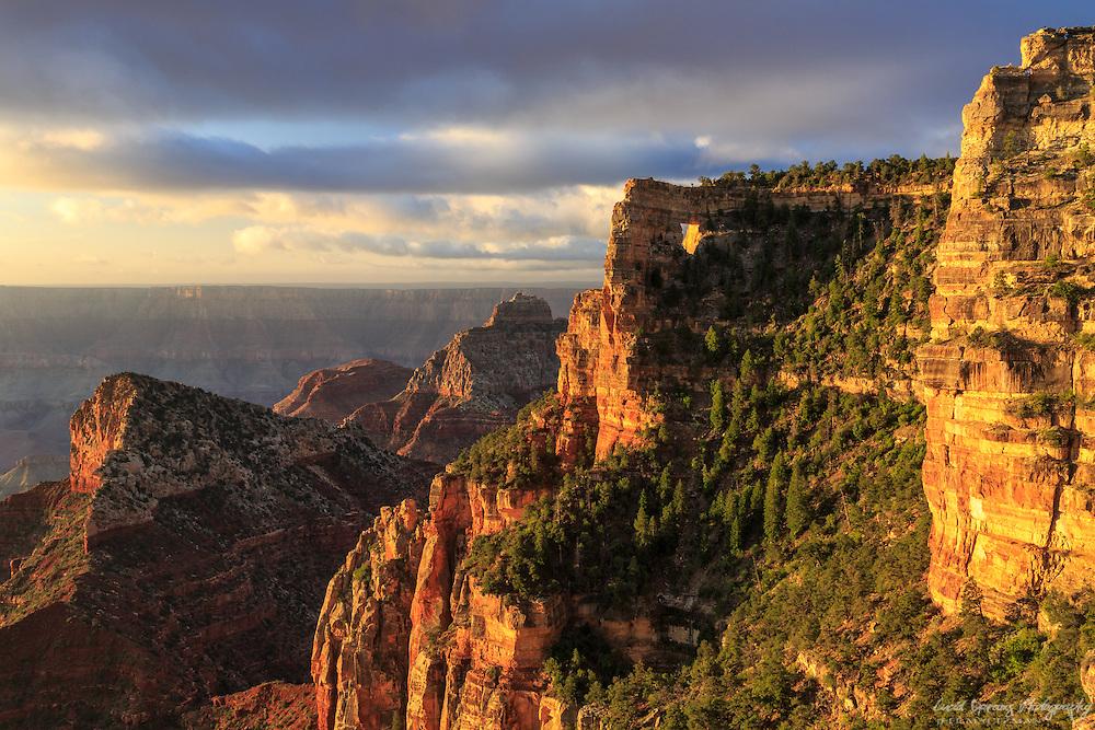 Sunrise at Angels Window, North Rim, Grand Canyon National park, Arizona