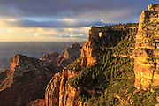 Sunrise at Angels Window, North Rim, Grand Canyon National park, Arizona