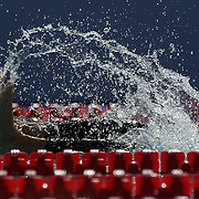 Leith Brodie, Australia,  turns during the Men's 400m IM heats at the World Swimming Championships in Rome on Sunday, August 02, 2009. Photo Tim Clayton.