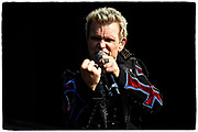 Billy Idol performs during the Welcome to Rockville festival on April 29, 2018 at Metro Park in Jacksonville, FL  (Photo by Chris Condon/PGA TOUR)
