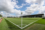 The New Lawn, home of Forest Green Rovers during the EFL Sky Bet League 2 match between Forest Green Rovers and Grimsby Town FC at the New Lawn, Forest Green, United Kingdom on 17 August 2019.