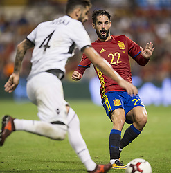 October 6, 2017 - Alicante, Spain - Isco (Real Madrid) during the qualifying match for the World Cup Russia 2018 between Spain and Albaniaat the Jose Rico Perez stadium in Alicante, Spain on October 6, 2017. (Credit Image: © Jose Breton/NurPhoto via ZUMA Press)