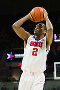 DALLAS, TX - DECEMBER 29: Yanick Moreira #2 of the SMU Mustangs shoots the ball against the Midwestern State Mustangs on December 29, 2014 at Moody Coliseum in Dallas, Texas.  (Photo by Cooper Neill/Getty Images) *** Local Caption *** Yanick Moreira