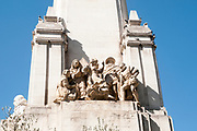 Statues of Don Quixote and Sancho Panza, Monument to Miguel de Cervantes, Plaza de Espa?a, Madrid, Spain