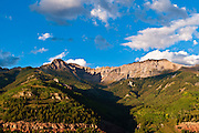 Evening light on the San Juan Mountains above Telluride, Colorado