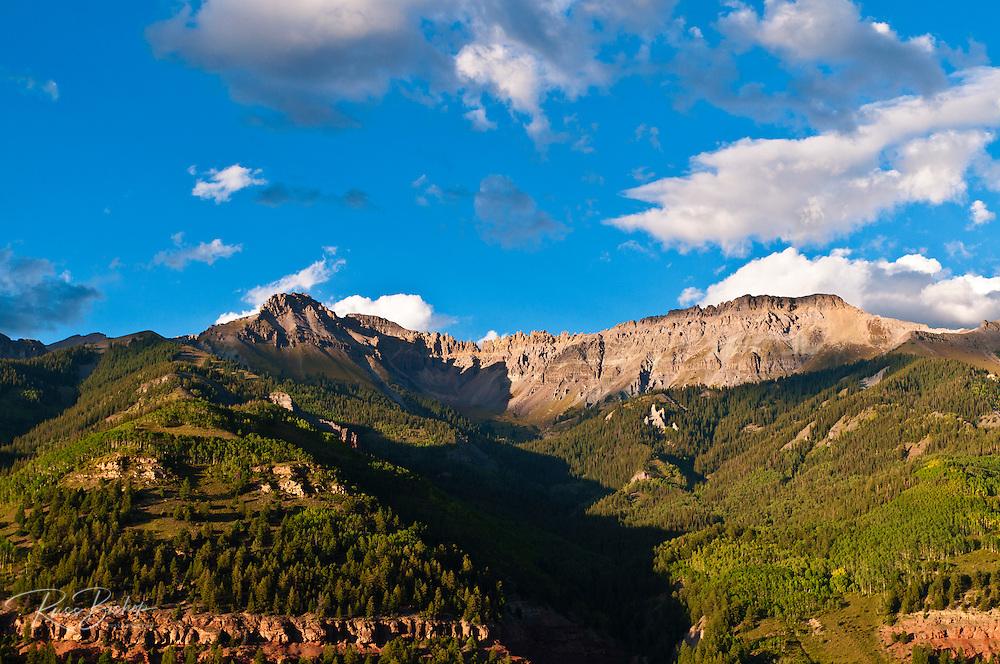Evening light on the San Juan Mountains above Telluride, Colorado