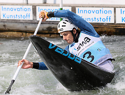 28.02.2013, Eiskanal, Augsburg, GER, ICF Kanuslalom Weltcup, 2. Rennen, im Bild Matej BENUS (SVK), C1, Canadier Einer, // during 2nd race of ICF Canoe Slalom World Cup at the ice track, Augsburg, Germany on 2013/06/28. EXPA Pictures © 2013, PhotoCredit: EXPA/ Eibner/ Klaus Rainer Krieger<br /> <br /> ***** ATTENTION - OUT OF GER *****