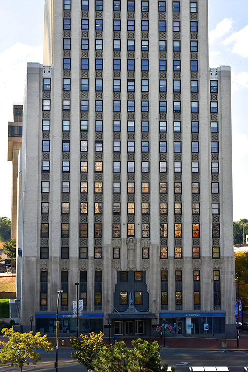 Exterior of the First Merit Tower in downtown Akron.