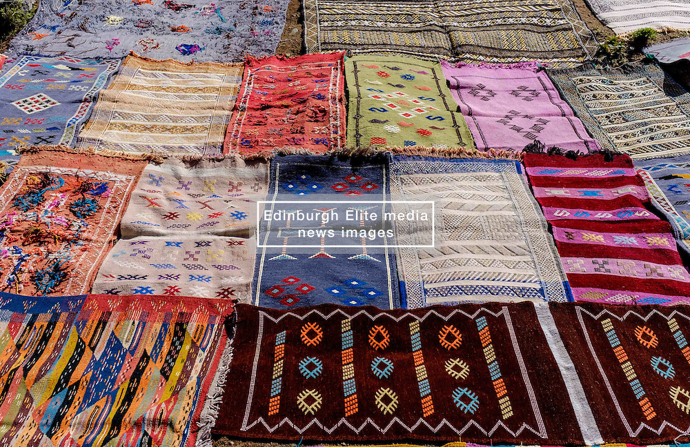 Locally produced items for tourists for sale in Setti-Fatma in the Ourika Valley, Morocco, North Africa<br /> <br /> (c) Andrew Wilson   Edinburgh Elite media