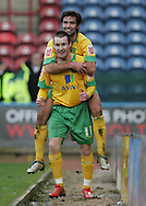 Huddersfield - Saturday, March 13th, 2010: Stephen Elliott of Norwich City celebrates scoring the second goal against Huddersfield Town with Simon Lappin during the Coca Cola League One match at the Galpharm Stadium, Huddersfield. (Pic by Michael Sedgwick/Focus Images)