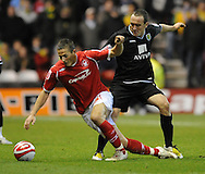 Nottingham - Saturday November 22nd, 2008: Chris Cohen of Nottingham Forest and Lee Croft of Norwich City during the Coca Cola Championship match at The City Ground, Nottingham. (Pic by Alex Broadway/Focus Images)
