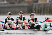 Putney, Great Britain.  2015 Pre Boat Race Fixture, Cambridge University Women's Boat Club vs Imperial College Women's Boat Club, Championship Course, River Thames.  England. <br /> {DOW{  {DATE}<br /> <br /> [Mandatory Credit; Peter Spurrier/Intersport-images]<br /> Crews: CUWBC:<br /> left to right;  6) Holly Hill, 7) Hannah Roberts, stroke, Fanny Belais and Cox, Rosemary Ostfeld.