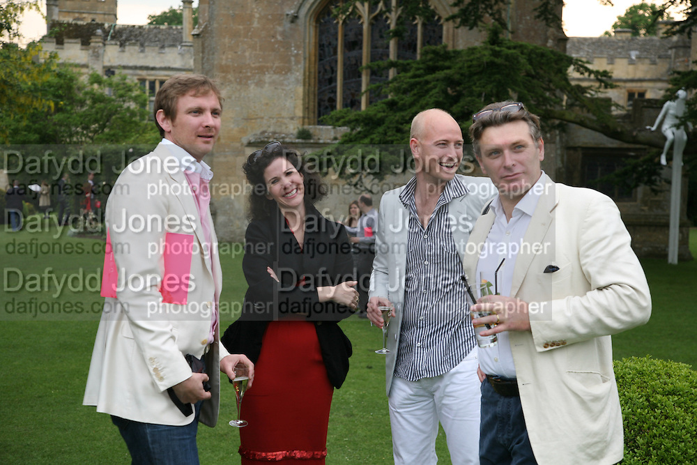 CHARLES THOMPSON, JUSTIN PORTMAN, MOLLIE DENT-BROCKLEHURST AND DUNCAN WARD. The Artists' Playground. Reconstruction 3: Contemporary Art at Sudeley Castle, 2008 In partnership with Phillips de Pury & Company and supported by Chanel. 31 May 2008. *** Local Caption *** -DO NOT ARCHIVE-© Copyright Photograph by Dafydd Jones. 248 Clapham Rd. London SW9 0PZ. Tel 0207 820 0771. www.dafjones.com.