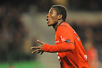 FOOTBALL - FRENCH CHAMPIONSHIP 2009/2010 - L1 - STADE RENNAIS v TOULOUSE FC - 20/03/2010 - PHOTO PASCAL ALLEE / DPPI - JOY ASAMOAH GYAN AFTER HIS GOAL (REN)