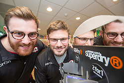 Edinburgh rugby players Simon Berghan and Ross Ford, officially opened the new Specsavers store at 70 St John Road, Corstorphine, Edinburgh.