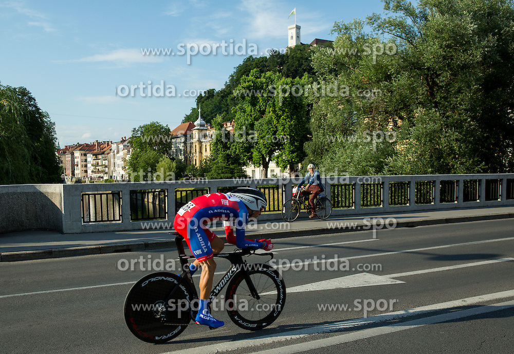 +166+ competes during Stage 1 of 22nd Tour of Slovenia 2015 - Time Trial 8,8 km cycling race in Ljubljana  on June 18, 2015 in Slovenia. Photo by Vid Ponikvar / Sportida