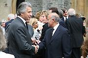 Left: Arnaud Bamberger, Mark Birley funeral. St Paul's , Knightsbridge. London. 19 September 2007. -DO NOT ARCHIVE-© Copyright Photograph by Dafydd Jones. 248 Clapham Rd. London SW9 0PZ. Tel 0207 820 0771. www.dafjones.com.