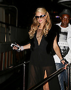 EXCLUSIVE - <br /> <br /> PARIS HILTON LEAVES A YACHT IN CANNES - 68th CANNES FILM FESTIVAL<br /> ©Exclusivepix Media