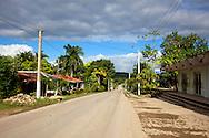 Main street in Tacajo, Holguin, Cuba.