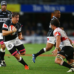 DURBAN, SOUTH AFRICA - AUGUST 22:  Etienne Oosthuizen of the Cell C Sharks during the Absa Currie Cup match between Cell C Sharks and Xerox Golden Lions at Growthpoint Kings Park on August 22, 2015 in Durban, South Africa. (Photo by Steve Haag/Gallo Images)