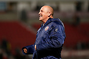 John Coleman Manager/Head Coach of Accrington Stanley celebrates avoiding relegation after the EFL Sky Bet League 1 match between Doncaster Rovers and Accrington Stanley at the Keepmoat Stadium, Doncaster, England on 23 April 2019.
