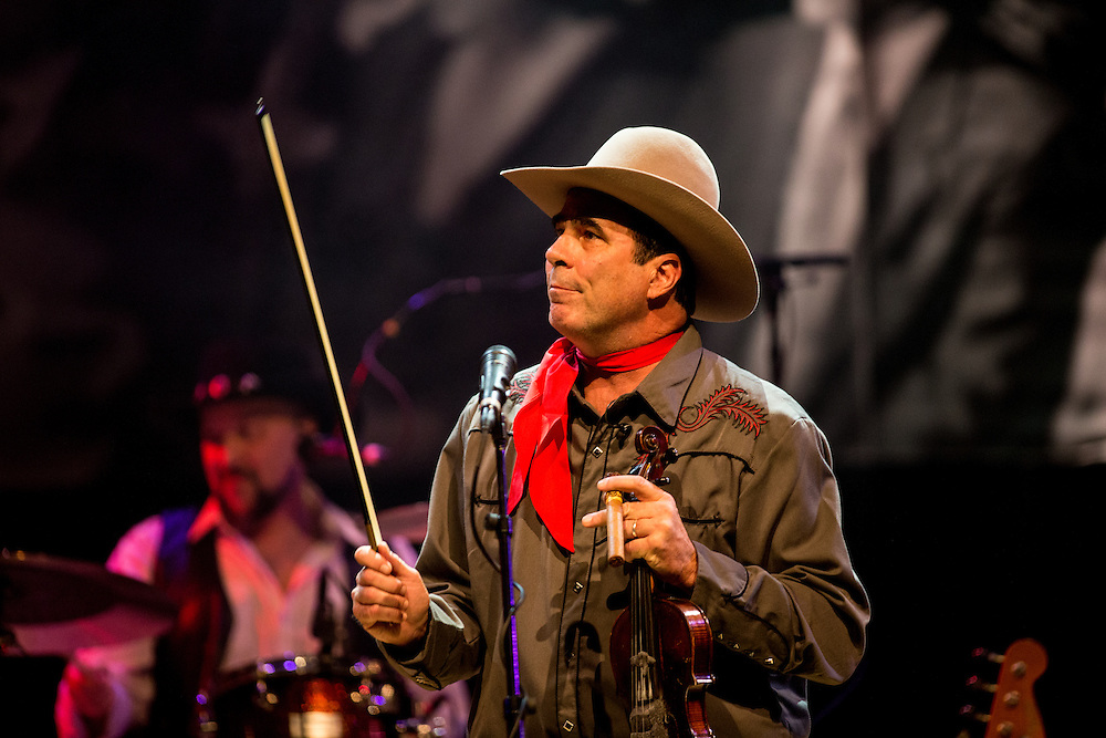Marty Muse as Bob Wills. Robert Earl Keen and the Robert Earl Keen Band in concert at ACL Live at the Moody Theater in Austin, Texas on December 20, 2016. Photograph © 2016 Darren Carroll