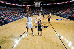Virginia guard Monica Wright (22) shoots an uncontested jump shot against Maryland.  The Virginia Cavaliers women's basketball team fell to the #4 ranked Maryland Terrapins 74-62 at the John Paul Jones Arena in Charlottesville, VA on January 18, 2008.