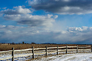 Snow, fields and Clouds