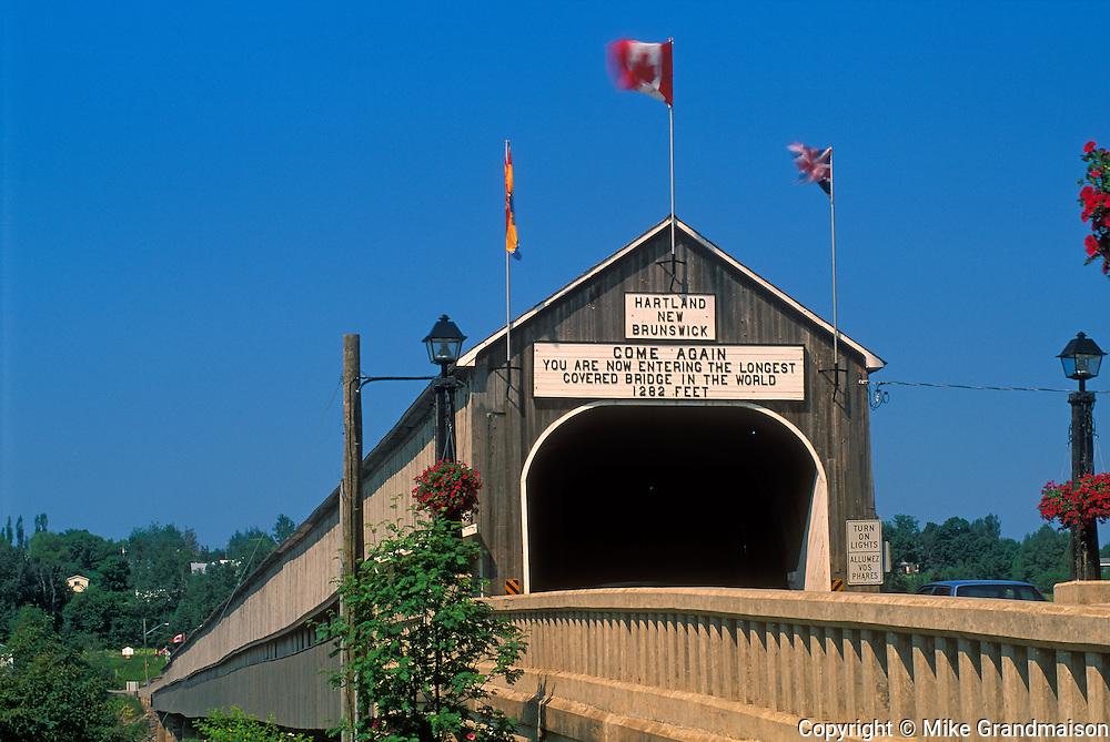 World's Longest Covered Bridge<br /> Hartland<br /> New Brunswick<br /> Canada