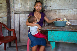 Aracely, 15, holds her infant. &ldquo;What I hope is to keep moving forward... to see how I can get my boy ahead. The hard thing, maybe... when he gets older and he leaves... that's when is going to be hard for me. When he is older. Because he is the one who will help me get ahead.<br /> <br /> Aracely is one of the half a million of Guatemalan girls who marry and give birth before they can legally vote, drink, or buy cigarettes. According to a 2012 UN Population Fund survey, 30% of Guatemalan women aged 20-24 were married by 18, and that number may be even higher in rural areas. Teenage births are so common that there&rsquo;s even a law requiring mothers under 14 to have C-sections, because their hips are too narrow to give birth.