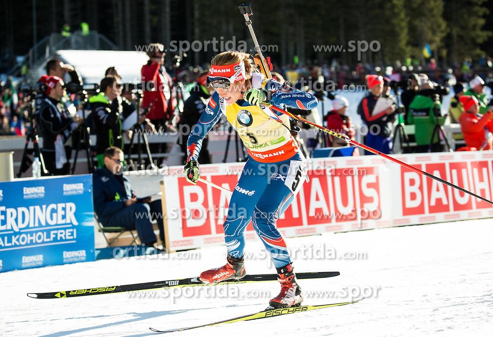 Gabriela Soukalova (CZE) during Women 10 km Pursuit at day 3 of IBU Biathlon World Cup 2015/16 Pokljuka, on December 19, 2015 in Rudno polje, Pokljuka, Slovenia. Photo by Vid Ponikvar / Sportida