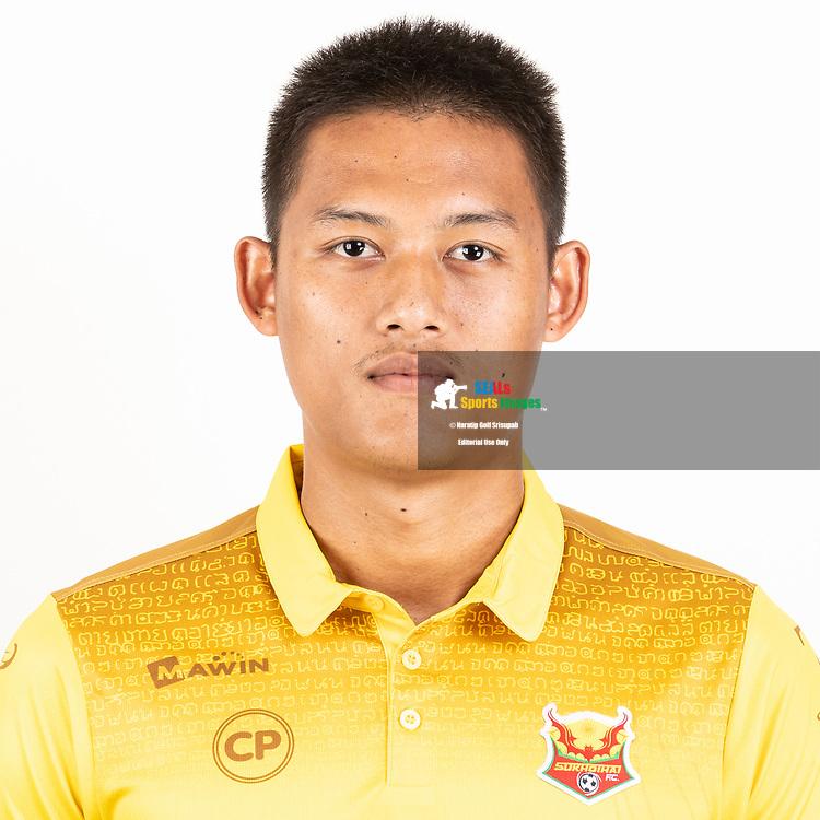 THAILAND - JUNE 29: Kittikai Juntaraksa #11 of Sukhothai FC on June 29, 2019.<br /> .<br /> .<br /> .<br /> (Photo by: Naratip Golf Srisupab/SEALs Sports Images/MB Media Solutions)