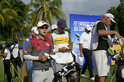 March 22, 2019 - Kuala Lumpur, Malaysia - Jazz Janewattananond (L) of Thailand in action on Day Two of the Maybank Championship at Saujana Golf and Country Club on March 22, 2019 in Kuala Lumpur, Malaysia  (Credit Image: © Chris Jung/NurPhoto via ZUMA Press)