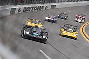 January 24-27, 2019. IMSA Weathertech Series ROLEX Daytona 24. Start of the 57th Daytona 24 #10 Konica Minolta Cadillac DPi-V.R. Cadillac DPi, DPi: Renger Van Der Zande, Jordan Taylor, Fernando Alonso, Kamui Kobayashi