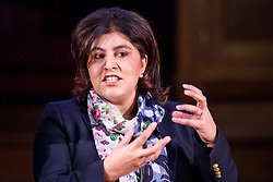 "© Licensed to London News Pictures. 13/05/2017. London, UK. Former Minister of State for Faith and Communities BARONNESS WARSI speaks at ""The Convention on Brexit"" event at Westminster Central Hall in London on Saturday, 13 May 2017. Photo credit: Tolga Akmen/LNP"
